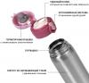 Термос Fissman Joranne Strawberry 420мл из нержавеющей стали