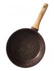 Сковорода Fissman Mosses Stone Ø24см з дерев'яною ручкою