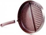 Сковорода-гриль Fissman Mosses Stone Ø26см з роздільником