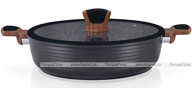 Сотейник Fissman Diamond Grey Ø28см с каменным антипригарным покрытием