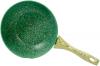 Сковорода-вок Fissman Malachite Ø28см с антипригарным покрытием EcoStone