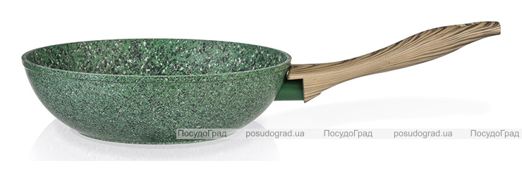 Сковорода-вок Fissman Malachite Ø24см с антипригарным покрытием EcoStone