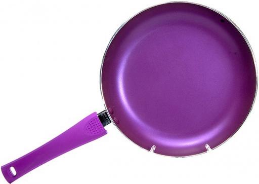 Сковорода Fissman Diverso Ø24см с антипригарным покрытием сиреневая