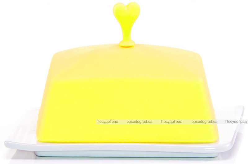 Масленка керамическая Fissman Ennafa с силиконовой крышкой