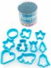 Набор 10 форм для вырубки печенья Fissman пластиковые