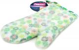 Кухонна рукавиця Fissman Green Flower 32см, бавовна з силіконовим покриттям