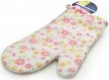 Кухонна рукавиця Fissman Pink Flower 32см, бавовна з силіконовим покриттям