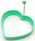 Форма силіконова для яєчні Fissman Серце 11см, м'ятна