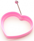 Форма силиконовая для яичницы Fissman Сердце 11см, розовая