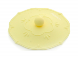 """Крышка силиконовая для чашки Fissman """"Цветок"""" Ø11.5см, желтая"""