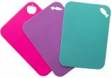 Набор 3 гибкие разделочные доски Fissman 28х20см: голубая, розовая, сиреневая