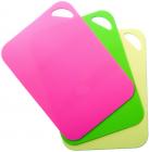 Набор 3 гибкие разделочные доски Fissman 28х20см: розовая, зеленая, желтая