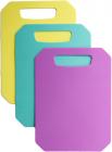 Набор 3 гибкие разделочные доски Fissman 28х20см: розовая, голубая, желтая