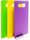 Набор 3 разделочные доски Fissman 28х18.5см на подставке