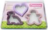 Набор 3 формы для вырубки печенья Fissman из нержавеющей стали