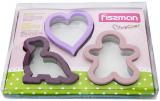 Набір 3 форми для вирубки печива Fissman з нержавіючої сталі
