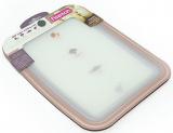 Набор 4 гибкие разделочные доски Fissman 28х21см прозрачный пластик