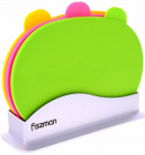 Набор 3 овальные разделочные доски Fissman 29х20см на подставке