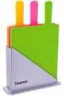 Набор 3 разделочные доски Fissman 32х20см на подставке