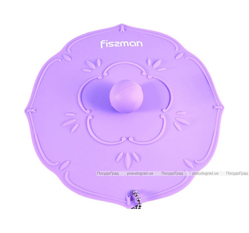 """Крышка силиконовая для чашки Fissman """"Цветок"""" Ø11.5см, сиреневая"""