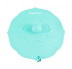 """Кришка силіконова для чашки Fissman """"Квітка"""" Ø11.5см, блакитна"""