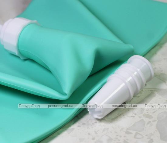 Кондитерский мешок Fissman 29см силиконовый с 4 насадками