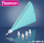 Кондитерський мішок Fissman 29см силіконовий з 4 насадками