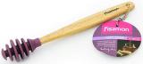 Ложка-булава для меду Fissman 18см силіконова з дерев'яною ручкою