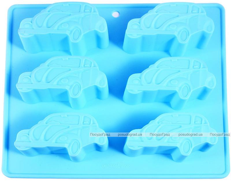 Форма для выпечки Fissman Машинки силиконовая 22х20см, 6 ячеек