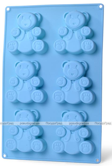 Форма для выпечки Fissman Медвежата силиконовая 26х27см, 6 ячеек