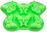 Форма для выпечки Fissman Бабочки силиконовая 32.5х23см, 6 ячеек