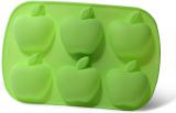 Форма для выпечки Fissman Яблочки силиконовая 26х17.8см, 6 ячеек