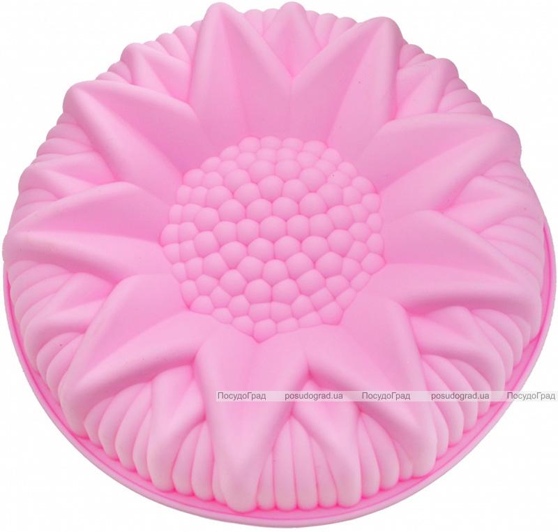 Форма для выпечки Fissman Астра силиконовая Ø24.5см, розовая