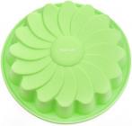 Форма для випічки Fissman Зелена Ромашка силіконова Ø22см
