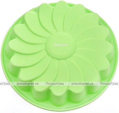 Форма для выпечки Fissman Зеленая Ромашка силиконовая Ø22см