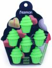 Форма силіконова для льоду і цукерок Fissman Маффин 15х11.5см, зелена