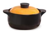 Кастрюля керамическая Fissman Del Fuoco Orange 1.6л, жаропрочная керамика