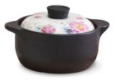 Кастрюля керамическая Fissman Del Fuoco Flowers 2.5л, жаропрочная керамика