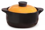 Кастрюля керамическая Fissman Del Fuoco Orange 2.5л, жаропрочная керамика