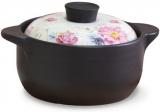 Кастрюля керамическая Fissman Del Fuoco Flowers 4л, жаропрочная керамика