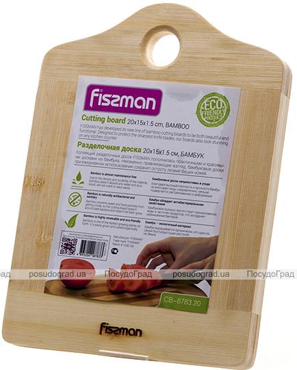 Доска разделочная бамбуковая FissmanRoskilde 33х25х1.5см