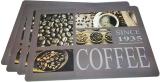 Набір 4 сервірувальних килимка Fissman Coffe 43.5х28.5см, пластик