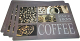 Набор 4 сервировочных коврика Fissman Coffe 43.5х28.5см, пластик