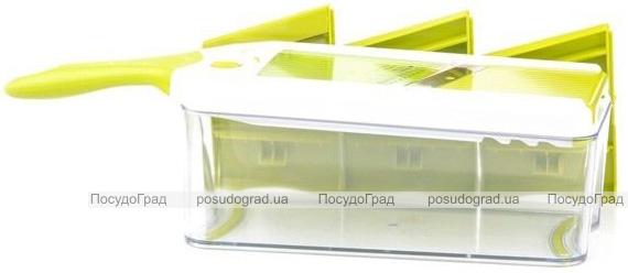 Терка-шинковка Fissman с контейнером, 4 сменных лезвия, с контейнером