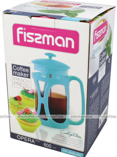 Френч-пресс Fissman Opera 600мл + мерная ложка