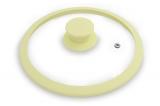 Крышка стеклянная Fissman ARCADES Ø20см с силиконовым ободом (желтый)