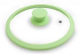 Крышка стеклянная Fissman ARCADES Ø24см с силиконовым ободом (зеленый чай)