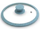 Крышка стеклянная Fissman ARCADES Ø26см с силиконовым ободом (морская волна)