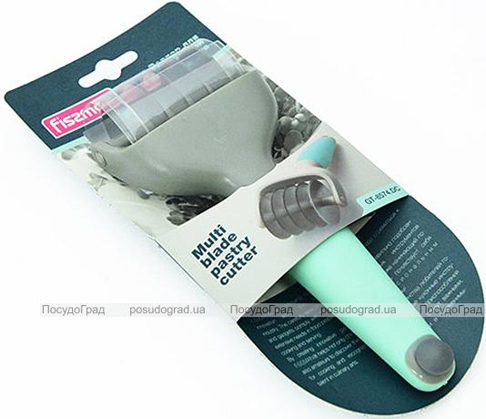 Роллер Fissman для фігурної нарізки тісту 5см (4 смужки 1см)