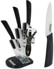 Набір керамічних ножів Fissman Adria 4 ножа на підставці-віялі